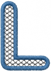 Two Color Font L embroidery design