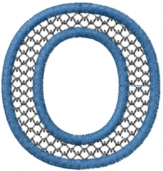 Two Color Font  O embroidery design