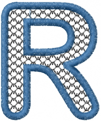 Two Color Font R embroidery design