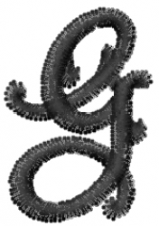 Vine Font g embroidery design