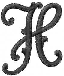 Vine Font H embroidery design
