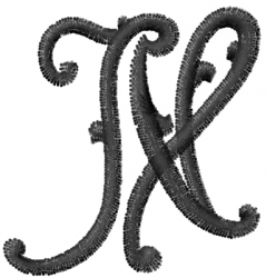 Vine Font N embroidery design