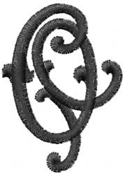 Vine Font O embroidery design