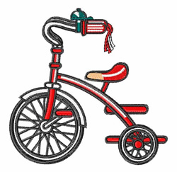 Tricycle embroidery design