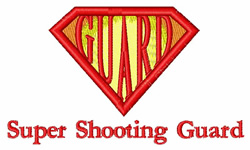 Super Shooting Guard embroidery design
