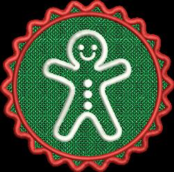 FSL Gingerbread Man embroidery design