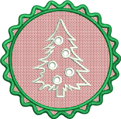 FSL Christmas Tree embroidery design