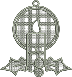 FSL Candle Ornament embroidery design