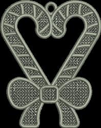 FSL Candy Cane Ornament embroidery design
