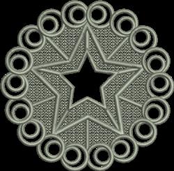 FSL Christmas Star Ornament embroidery design