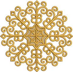 FSL Swirly Ornament embroidery design