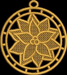 FSL Christmas Poinsettia Ornament embroidery design