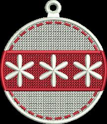 FSL Christmas Ornament embroidery design