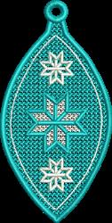 FSL Blue Snowflake embroidery design