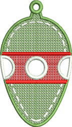 FSL Christmas Light Ornament embroidery design