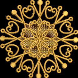 FSL Snowflake Circle embroidery design