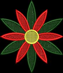 FSL Christmas Poinsettia embroidery design