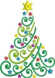 Christmas Star Tree embroidery design