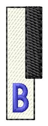 Piano Key B embroidery design