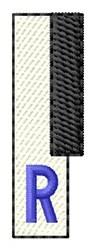 Piano Key R embroidery design