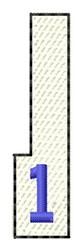 White Piano Key 1 embroidery design