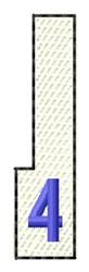 White Piano Key 4 embroidery design