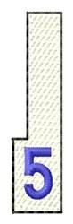 White Piano Key 5 embroidery design