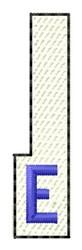 White Piano Key E embroidery design