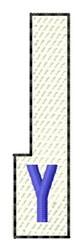 White Piano Key Y embroidery design
