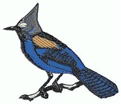 Applique Bluebird embroidery design