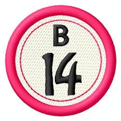 Bingo B14 embroidery design