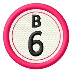 Bingo B6 embroidery design