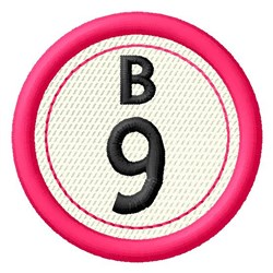 Bingo B9 embroidery design