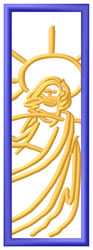 Religious Bookmark embroidery design