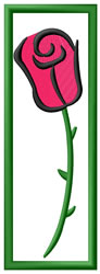 Rose Bookmark embroidery design