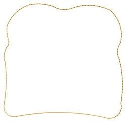 Bread Outline embroidery design