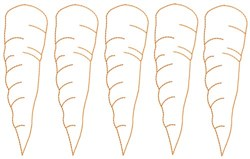Carrot Outlines embroidery design
