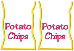 Potato Chip Bags embroidery design