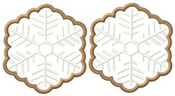 Snowflake Cookies embroidery design