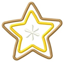 Star Cookie embroidery design