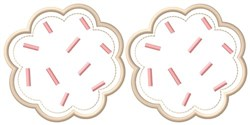Sprinkles Cookies embroidery design