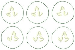 Cucumber Slices embroidery design