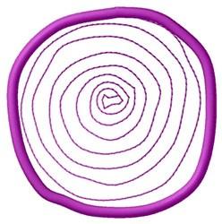 Onion Slice embroidery design