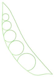 Pea Outline embroidery design