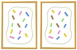 Sprinkles Poptarts embroidery design