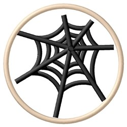 Spider Web Cookie embroidery design