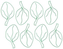Spinach Leaves embroidery design