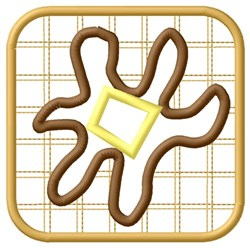Buttered Waffle embroidery design
