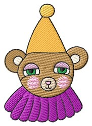 Party Bear embroidery design