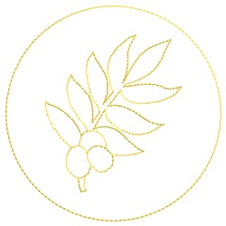 Olive Branch Fill embroidery design